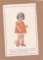 CPA Humour Enfant, Dessin, Petite Fille, Recevoir La Fessée, Tradition, éducation, Huile De Foie De Morue, Cirque - Cartes Humoristiques
