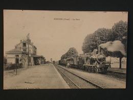 Ref5796 CPA Animée De Surdon (Orne) La Gare - Imprimerie Phototypie Pasquis Laigle 1921 - France