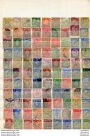 Grande Bretagne-lot De198 Stamps -perfins-perforés-perforated--oblitérés -bel Ensemble - Perfins
