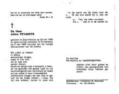 JULIEN FEYAERTS ° ERPS-QUERPS 1900 + KORTENBERG 1983 / VANDERSEYPEN - Images Religieuses