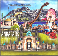 TURKEY 2017, ANKAPARK, DINOSAURS, TRAIN, MNH SET (MiNo 4342/43) In GOOD QUALITY, *** - Nuevos