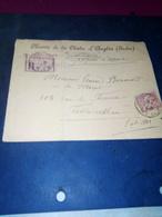 LR  ST BENOIT DU SAULT Indre Pour Fontainebleau  ENTETE Mairie La Chatre D'anglin - Storia Postale