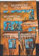 BHUTAN - 1999 - MUSHROOMS SHEETLETS OF 6 X 3 + S/SHEETS X 3  MNH, SG CAT £49 - Bhutan