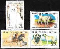 TURKEY 2017, FAUNA, ANIMALS CAT, HORSES, DOGS, MNH SET (MiNo 4380/83) In GOOD QUALITY, *** - Nuevos