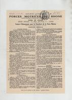 Forces Motrices Du Rhône Canal De Jonage Lyon Bisch Rue De Verdun Bron 1941 - Old Paper