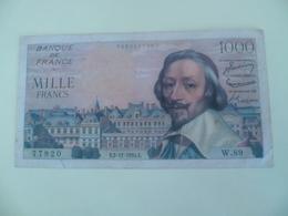 Billet De 1000 Francs 2-12-54 - 1 000 F 1953-1957 ''Richelieu''