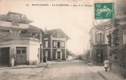 91 Montgeron La Garenne Rue De La Garenne Cpa Carte Animée - Montgeron