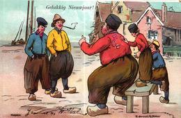 CPA ILLUSTRATEUR - MARKEN GELUKKIG NIEUWJAAR - Illustrateurs & Photographes