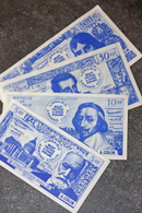 Série De 4 Billets Scolaires école (de 10000/100NF à 500/5NF) 1959 - Armand Colin - School Bank Note - Specimen