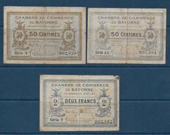 Chambre De Commerce De Bayonne - 3 Billets - Chamber Of Commerce