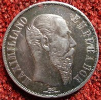 MONNAIE ARGENT MEXIQUE 1 PESO  Empereur Maximilien 1866 M° Mexico MAXIMILIANO - EMPERADOR. IMPERIO MEXICANO SILVER COIN - Mexique