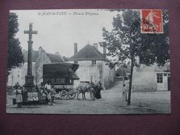 CPA 71 SAINT JEAN DE VAUX  Place Et Diligence TOP ANIMEE ATTELAGE METIERS TRANSPORT POSTE 1911  Canton GIVRY - Frankreich