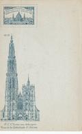 070/29 - Expostion Universelle ANVERS 1894 - Carte-Vue Non Circulée Cathédrale Anvers + Vignette De L' EXPO - 1894 – Anvers (Belgique)