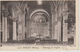 19 / 5 / 28  -  ÉCULLY  ( 69 ). INTÉRIEUR  DE. L'ÉGLISE - Autres Communes