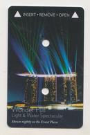 Marina Bay Sands Hotel Singapore Laser Light  Keycard - Hotelkarten