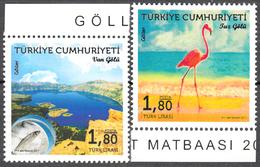 TURKEY 2017, NATURE, TURKISH LAKES, ANIMALS BIRD And FISH, MNH SET (MiNo 4398/99) In GOOD QUALITY, *** - 1921-... Republic