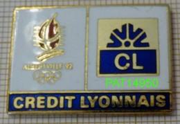 JO ALBERTVILLE 92   BANQUE CL CREDIT LYONNAIS En Version EGF COJO 1990 - Olympische Spelen