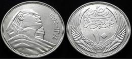 EGYPT - THE RARE 10 PIASTRES OF 1955 - KM 383 - SPHINX - Egypte