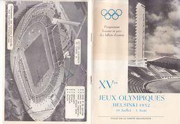 "(C 3) Programme Des XV ïm Jeux OLYMPIQUES ""HELSINKI 1952 (20 Pages Format B 5) - Programmes"