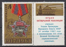 USSR - Michel - 1968 - Nr 3541 + Zf - MNH** - 1923-1991 USSR