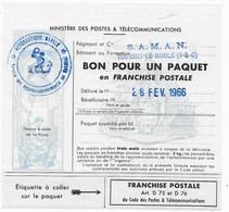 Bon De Colis Militaire N° 14 C - Franchise Militaire (timbres)