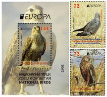 Republic Of North Macedonia / 2019 / Europa / National Birds Set 2v And S/S - Macedonia