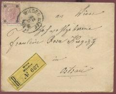 1921 WIEN-WIEDEN Einschreiben N. Ostrau - Lettres & Documents