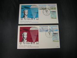 "BELG.1960 1133/1138 FDC (Brux(s) :  ""Parachutisme"" - 1951-60"