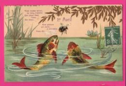 CPA GAUFRÉE  (Ref: Z2026) ) 1er AVRIL POISSON D'AVRIL - 1° Aprile (pesce Di Aprile)