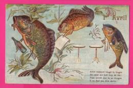 CPA GAUFRÉE (Ref: Z2032) ) 1er AVRIL POISSON D'AVRIL - 1° Aprile (pesce Di Aprile)