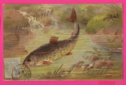 CPA (Ref: Z2038) 1er AVRIL POISSON D'AVRIL Avec Colombe Et Truite - 1° Aprile (pesce Di Aprile)
