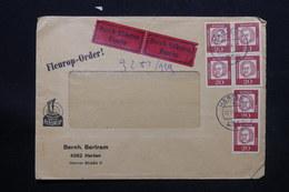 ALLEMAGNE - Enveloppe Commerciale En Exprès De Herten Pour Bruxelles En 1964 - L 28250 - Briefe U. Dokumente