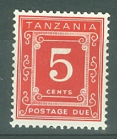 Tanzania: 1969/71   Postage Dues   SG D7  5c   [Perf: 14 X 15]   MH - Tanzania (1964-...)