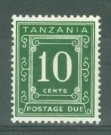 Tanzania: 1969/71   Postage Dues   SG D8  10c   [Perf: 14 X 15]   MH - Tanzania (1964-...)