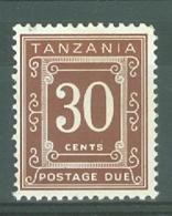 Tanzania: 1969/71   Postage Dues   SG D10  30c   [Perf: 14 X 15]   MH - Tanzania (1964-...)