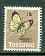 Tanzania: 1973/78   Butterflies   SG159    10c   MNH - Tanzania (1964-...)
