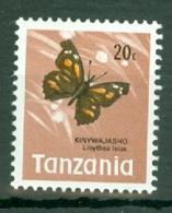 Tanzania: 1973/78   Butterflies   SG161    20c   MNH - Tanzania (1964-...)