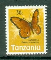 Tanzania: 1973/78   Butterflies   SG162    30c   Yellow, Orange & Black  MNH - Tanzania (1964-...)