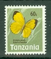 Tanzania: 1973/78   Butterflies   SG165    60c    MNH - Tanzania (1964-...)