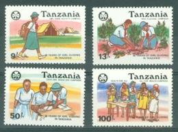 Tanzania: 1990   60th Anniv Of Girl Guides Movement    MNH - Tanzania (1964-...)