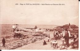CPA 17 -- SAINT NAZAIRE SUR CHARENTE -- Plage De PORT Des BARQUES Animée - France