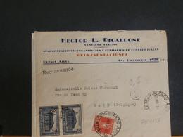 79/465A   LETTRE   ARGENTINA  POUR LA BELG. RECOMM.  1934 - Storia Postale