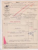 75-E.Giffo & L.De Penanros..Conserves Capitaine Cook...Paris XIII ème...1937 - Alimentaire