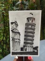 Cpsm Pise Pisa Campanile E Abside Del Duomo 1949 + Publicité  GARMELLA - Pisa