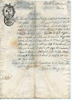 ITALIE. DOCUMENT 1809 A IDENTIFIER. CACHETS GRANI DUE ET G.6. - Matasellos Generales