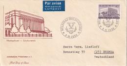 FINLANDE 1956 FDC DE HELSINKI PAR AVION - Finlande