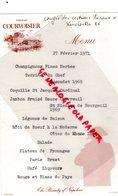 86- LENCLOITRE- MENU CONGRES DES ARTISANS RURAUX-COGNAC COURVOISIER-THE BRANDY OF NAPOLEON-IMPRIMERIE BRU FILS JARNAC - Menus