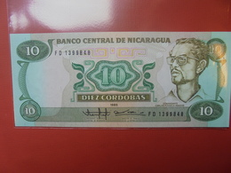 NICARAGUA 10 CORDOBAS 1985 PEU CIRCULER/NEUF - Nicaragua