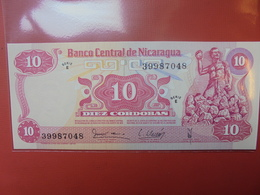 NICARAGUA 10 CORDOBAS 1979 PEU CIRCULER/NEUF - Nicaragua