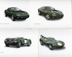 Lot De 4 Cartes Postales  -  Jaguar XKR - Type D- Type C  -  Publisher: Jaguar Cars - Voitures De Tourisme